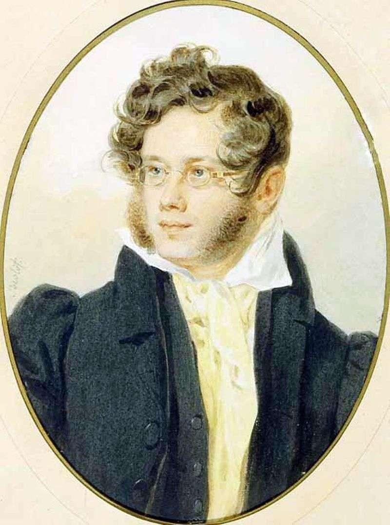 Portret księcia P. A. Vyazemsky   Peter Sokolov