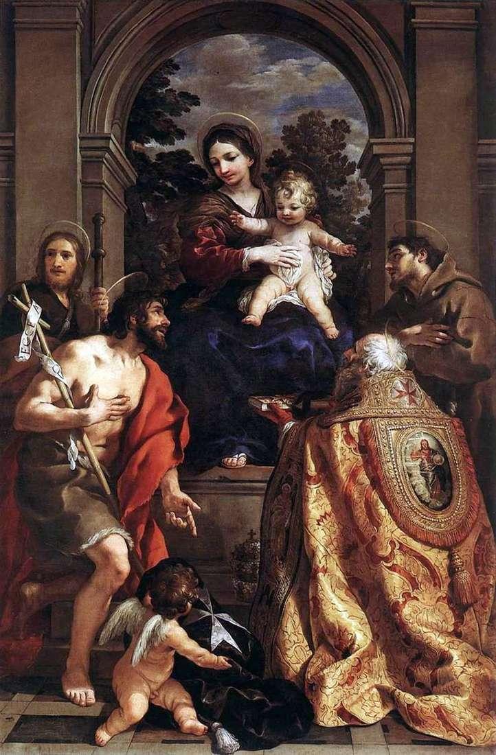 Madonna ze świętymi   Pietro da Cortona