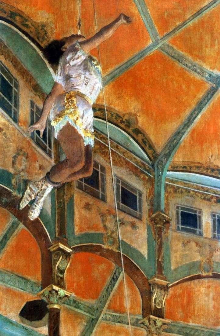 Panna Lala w cyrku Fernando   Edgar Degas
