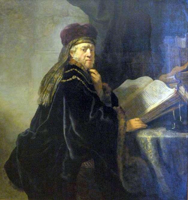 Pracownik naukowy w biurze (rabin)   Rembrandt Harmens Van Rhine