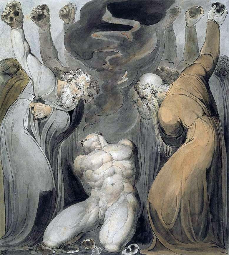 Stoning Ahan   William Blake