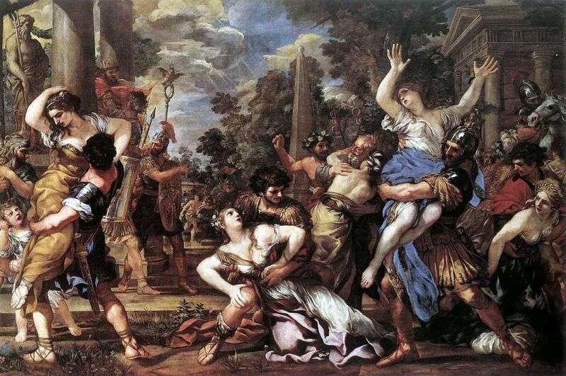 Porwanie kobiet Sabine   Pietro da Cortona