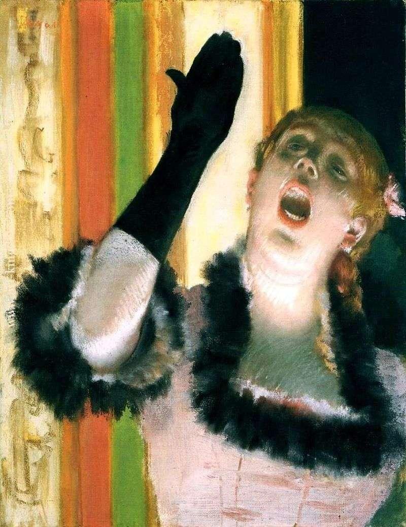 Piosenkarz z rękawiczką   Edgar Degas