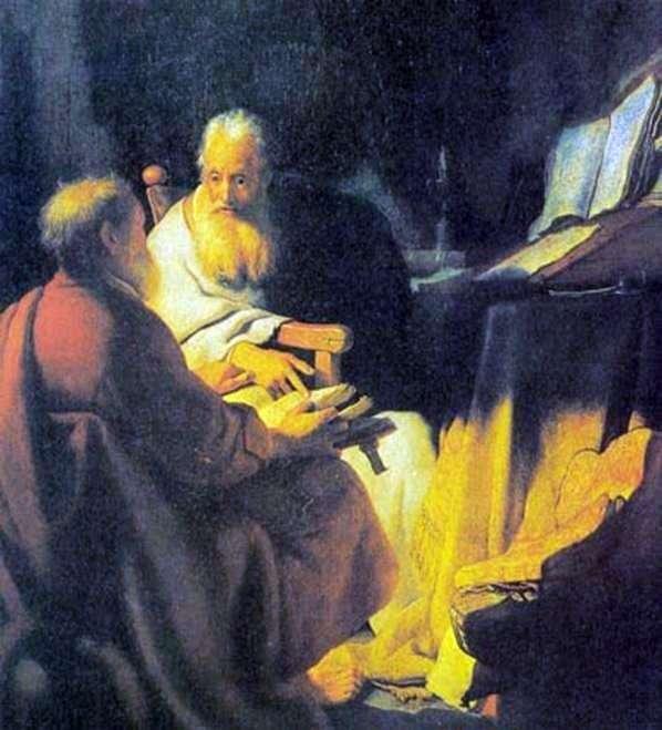 Spór naukowy   Rembrandt Harmens Van Rhine