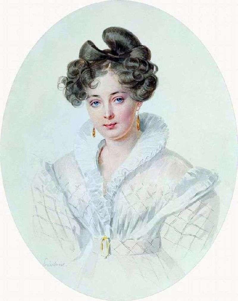 Portret nieznanej kobiety w białej sukni (S. A. Urusova)   Piotr Sokołow