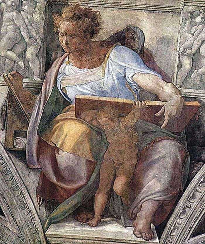Prorok Daniel (fresco)   Michelangelo Buonarroti Buonarroti