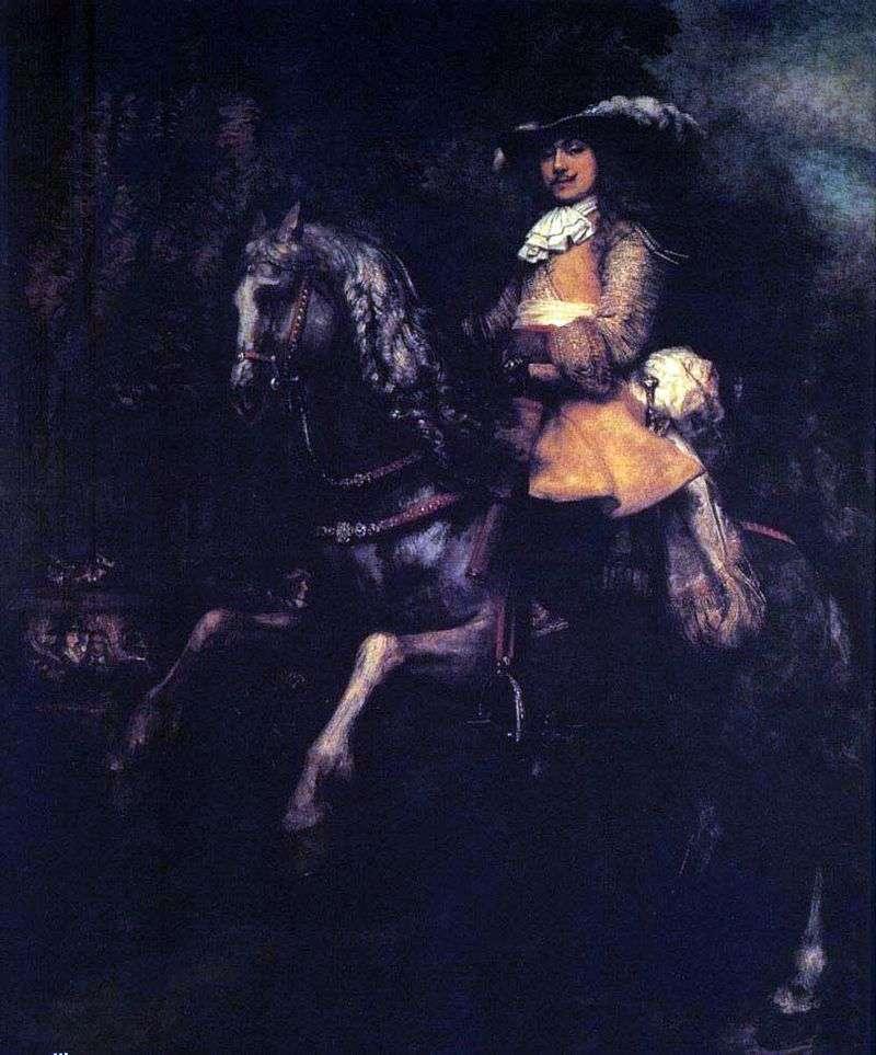 Frederick Riel na koniu   Rembrandt Harmens Van Rhine
