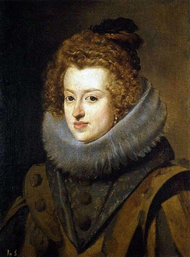 Portret infantki Marii Anny z hiszpańskiej królowej węgierskiej   Diego Velasqueza