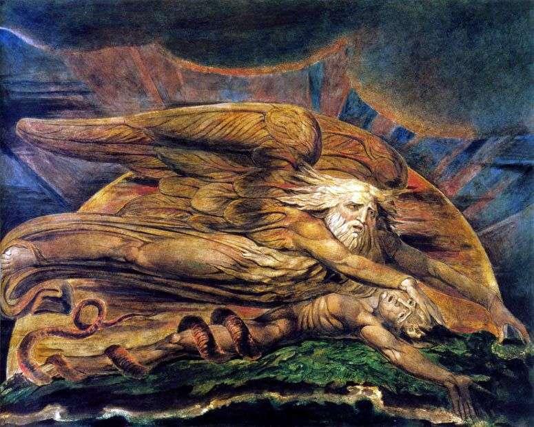 Elohim tworzy Adama   Williama Blakea