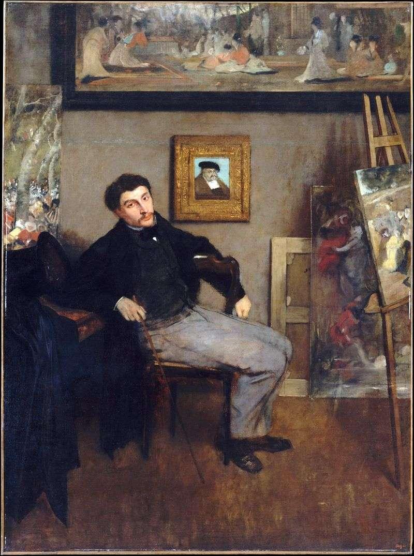 Portret Jamesa Tissota   Edgara Degasa