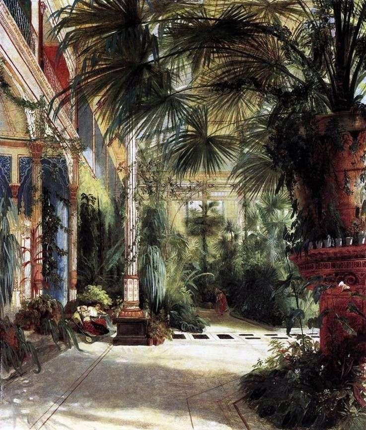 The Palm Yard of Friedrich Wilhelm   Carl Edouard Ferdinand Blechen