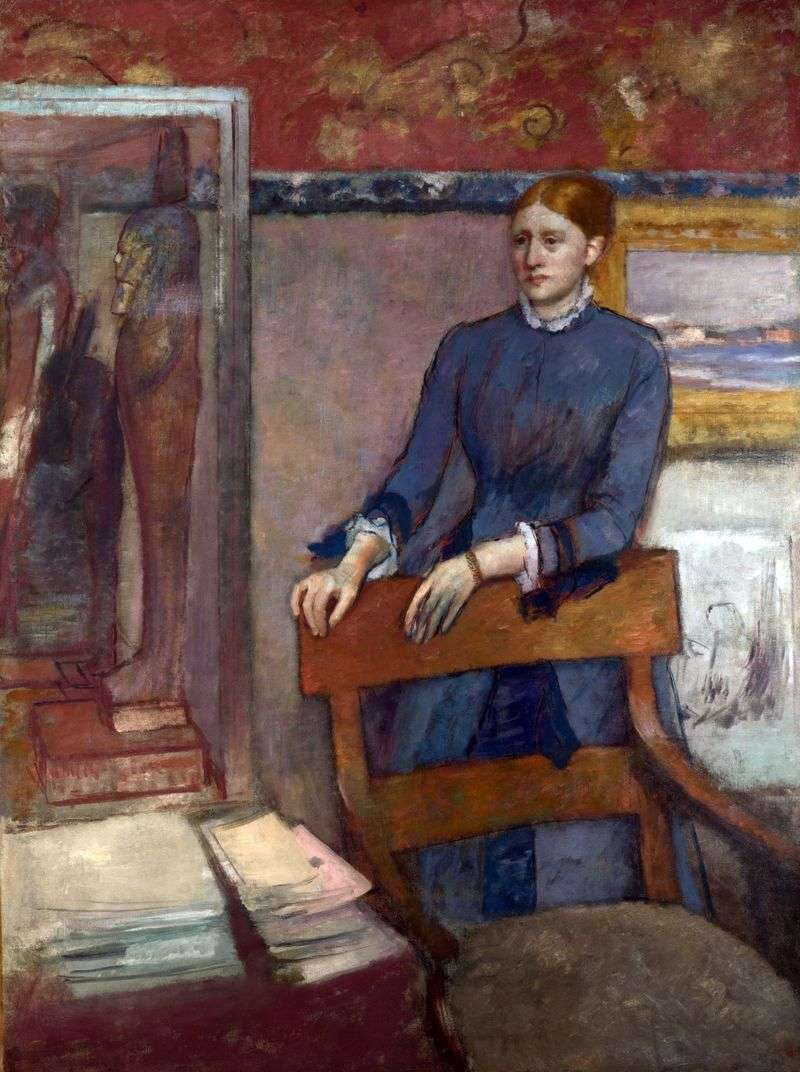 Portret mademoiselle Helene Roire   Edgar Degas