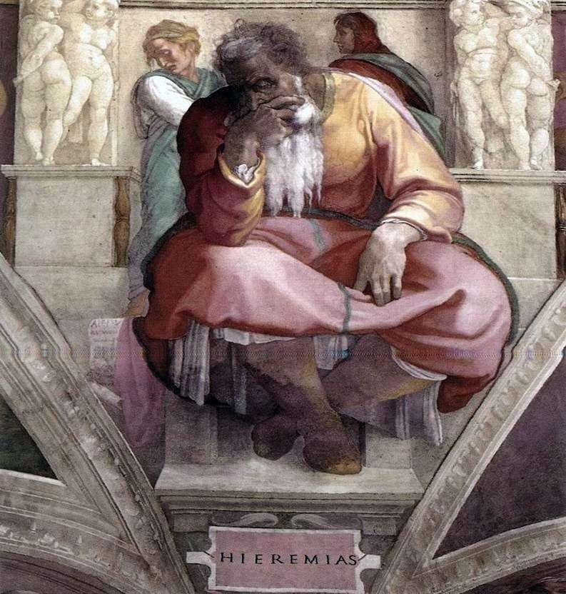Prorok Jeremiasz (Fresco)   Michelangelo Buonarroti