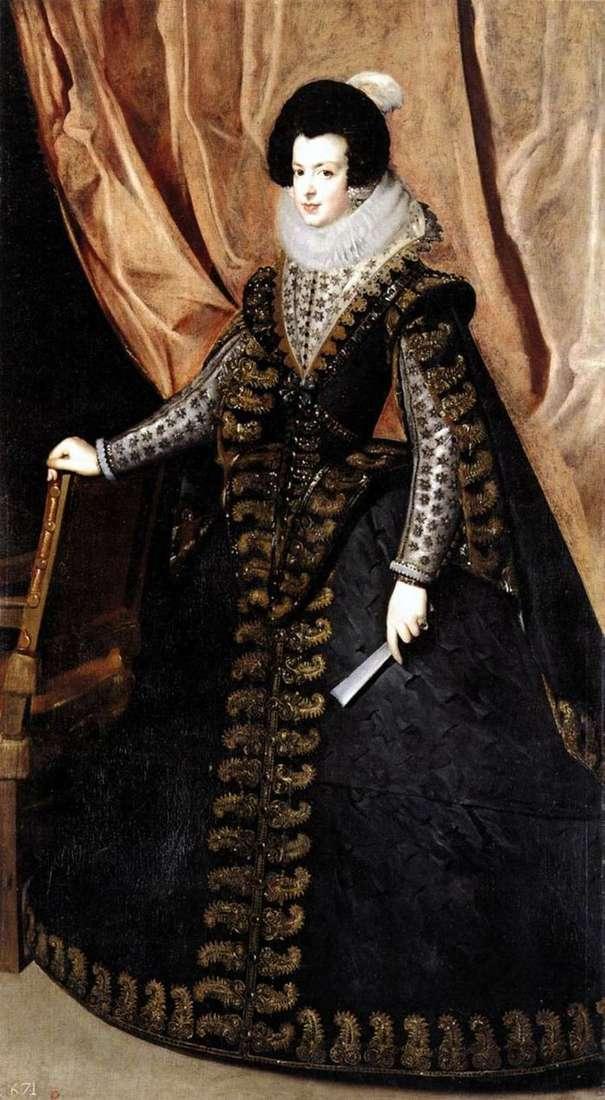 Portret królowej Izabeli Burbon   Diego Velasquez