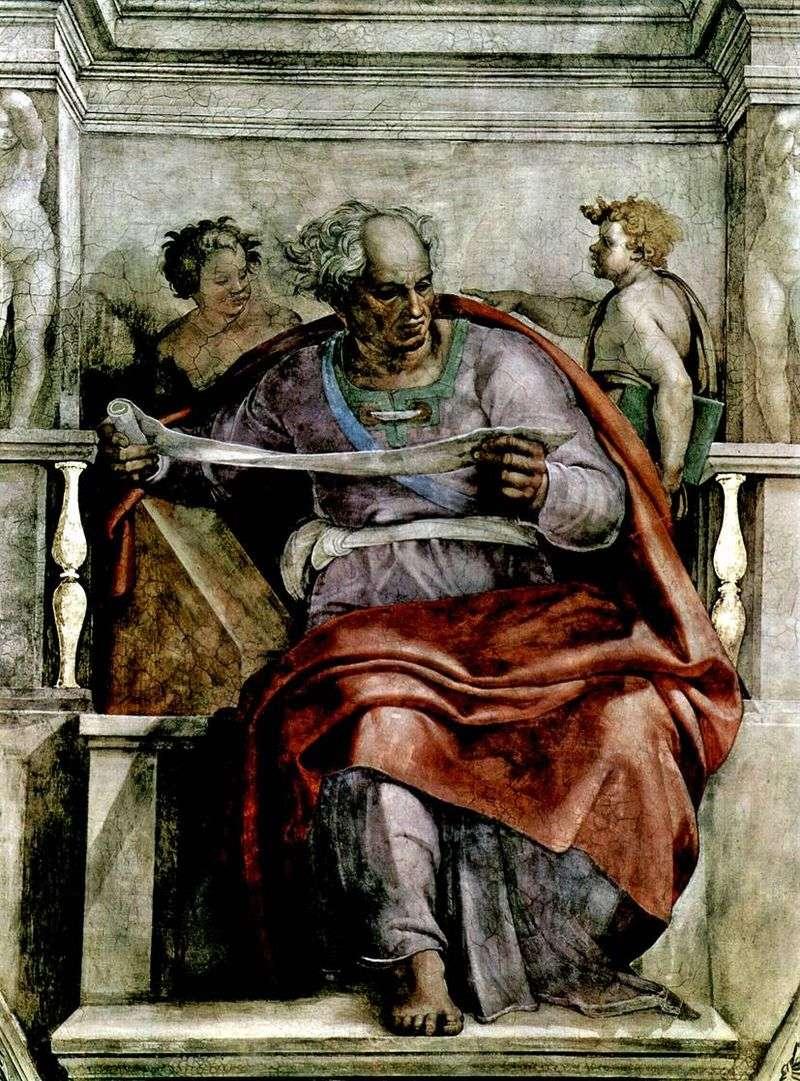 Prorok Joel (Fresco)   Michelangelo Buonarroti