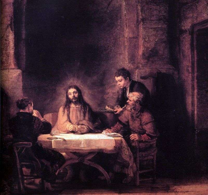 Chrystus w Emmaus   Rembrandt Harmens Van Rhine