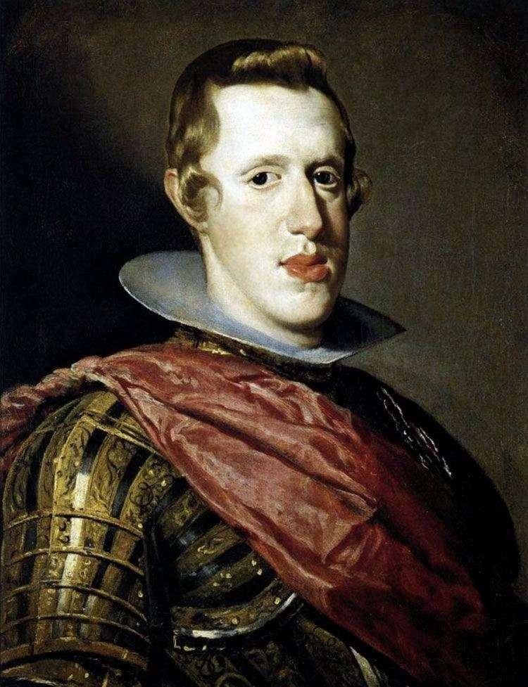 Portret króla Hiszpanii Philip IV w zbroi   Diego Velasquez
