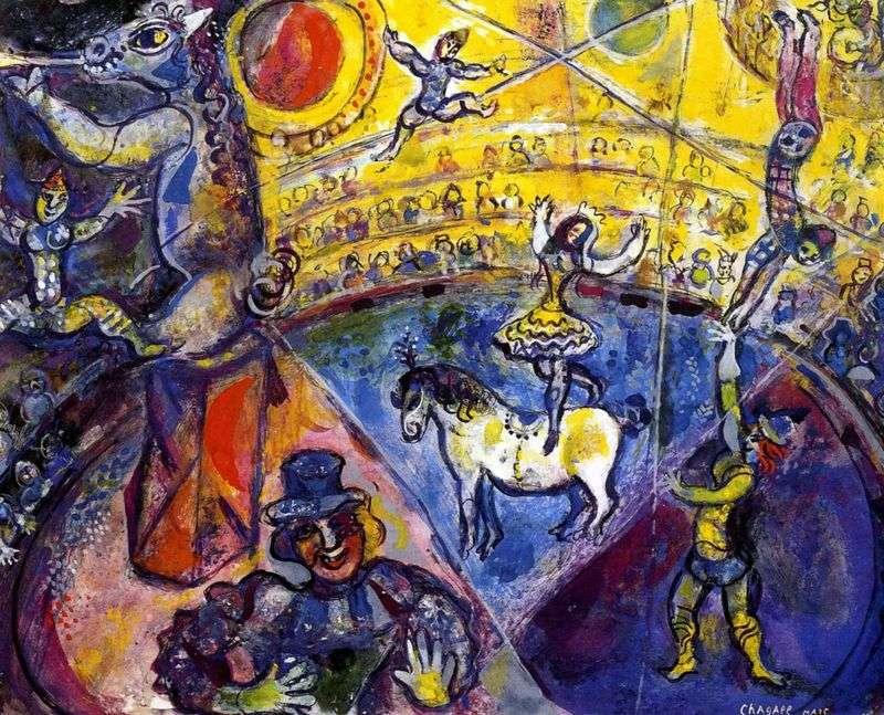 Cyrkowy koń   Marc Chagall