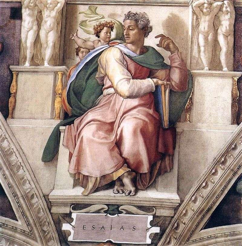 Prorok Izajasz (Fresco)   Michał Anioł Buonarroti