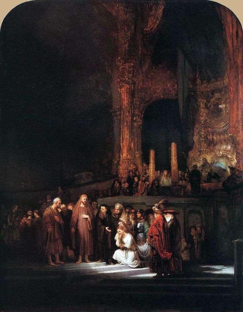 Chrystus i grzesznik   Rembrandt Harmens Van Rhine