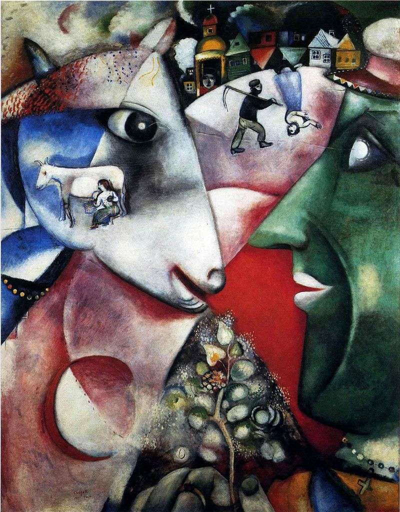 Ja i wioska   Marc Chagall