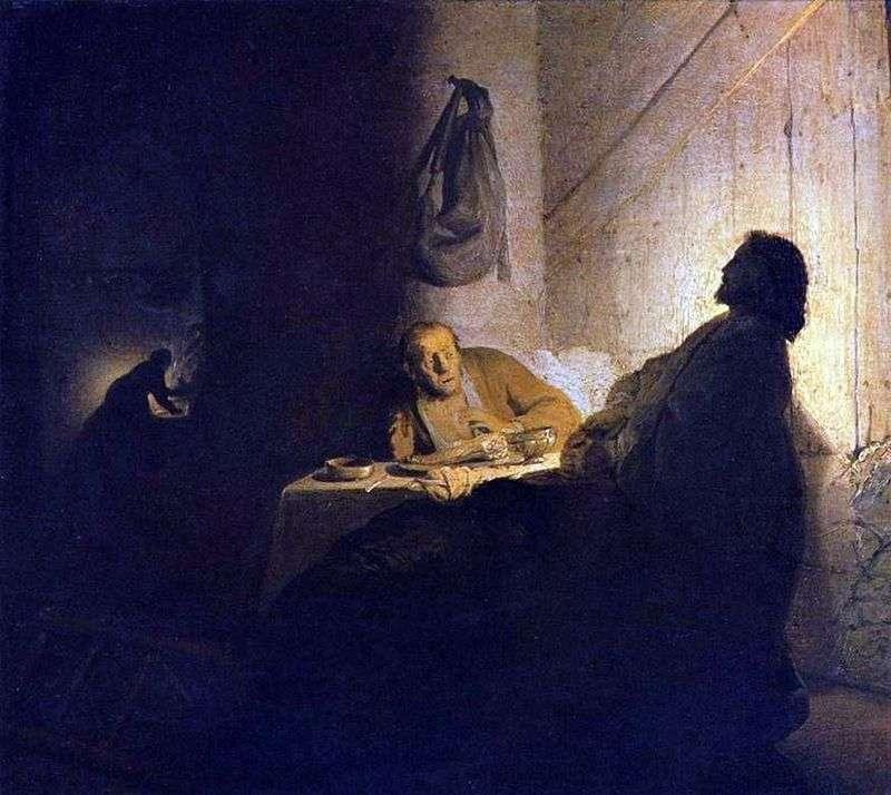 Chrystus i uczniowie w Emmaus   Rembrandt Harmens Van Rhine