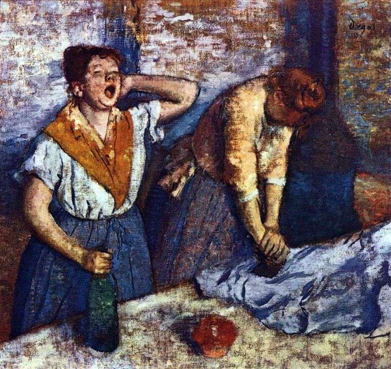 Praczka głaszcze   Edgar Degas