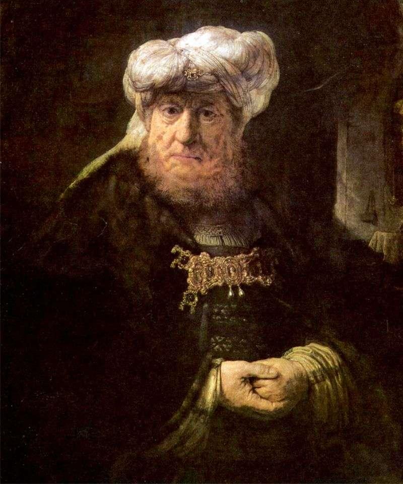 Król Uzjasz użądlony przez trąd   Rembrandt Harmens Van Rhine