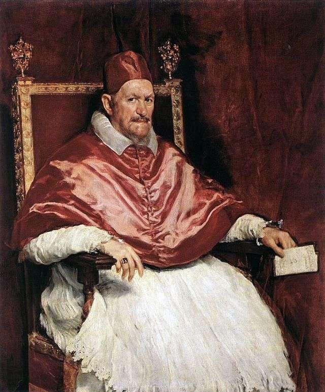 Portret papieża Innocentego X   Diego Velasqueza