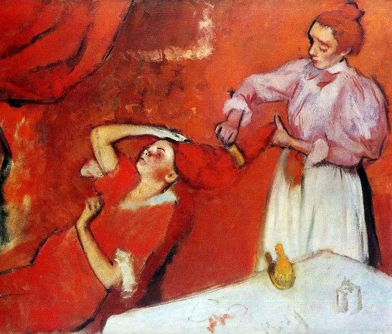 Czesanie włosów   Edgar Degas