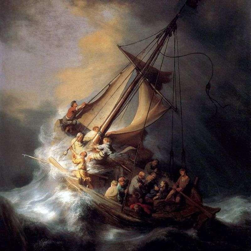 Transfer Chrystusa podczas burzy   Rembrandt Harmens Van Rhine