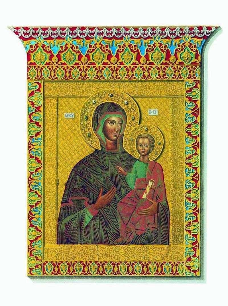 Święta ikona Odigitrii Matki Boskiej Smoleńskiej   Słońce Fedora