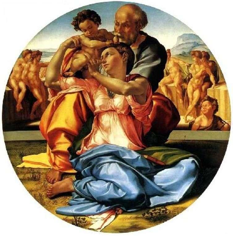 Święta rodzina (Tondo Doni)   Michelangelo Buonarroti