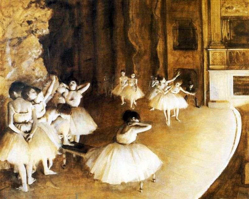 Próba baletowa na scenie   Edgar Degas
