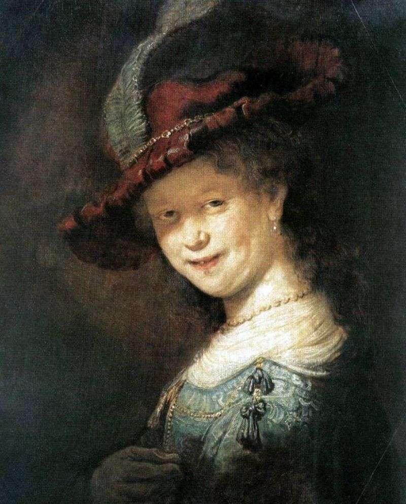 Portret Saski van Eilebürch   Rembrandt Harmens Van Rhine