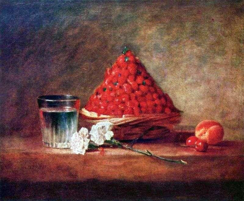Koszyk truskawkowy   Jean Baptiste Simeon Chardin