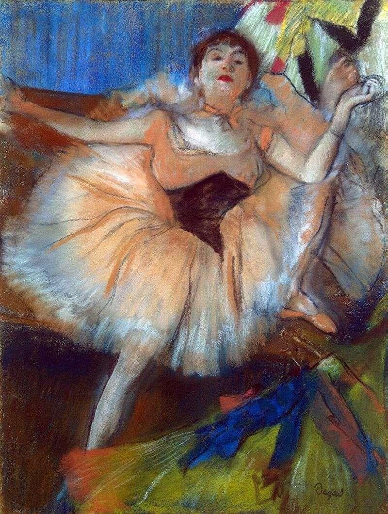 Siedzący tancerz   Edgar Degas