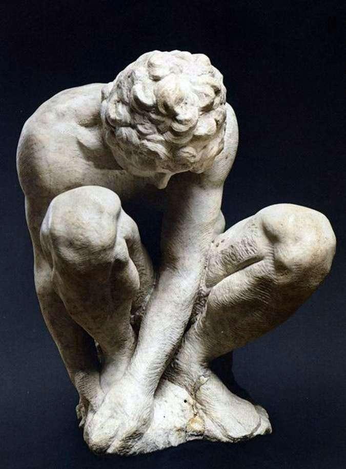 Przyczajony chłopiec   Michelangelo Buonarotti