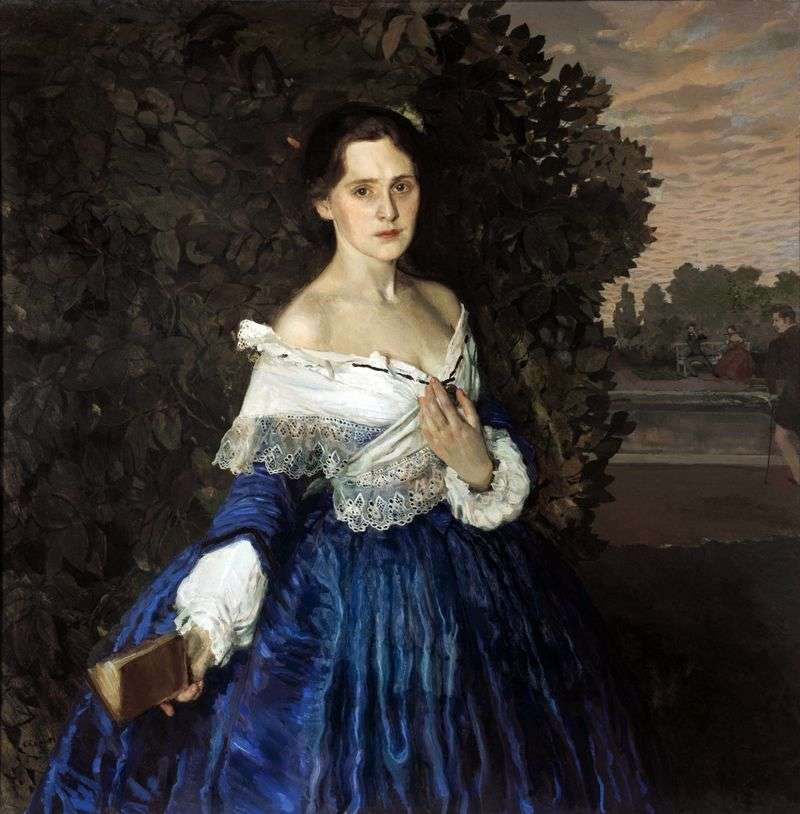 Lady in Blue (Portret artysty E. M. Martynova)   Konstantin Somov