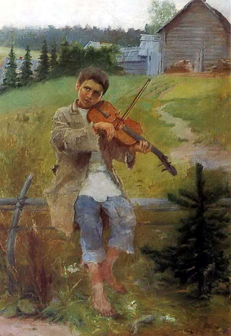 Chłopiec ze skrzypcami   Nikołaj Pietrowicz Bogdanow Belski