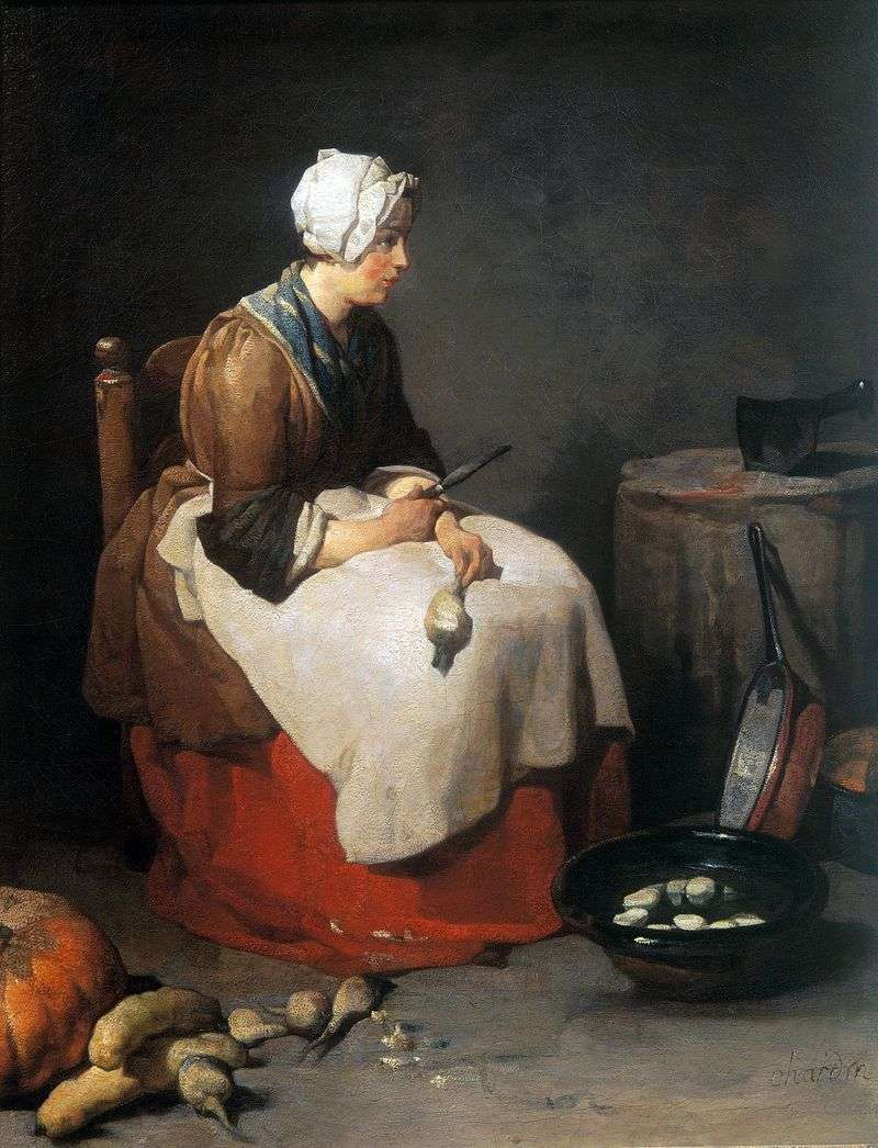 Gotowanie Czyszczenie Szwed   Jean Baptiste Chardin