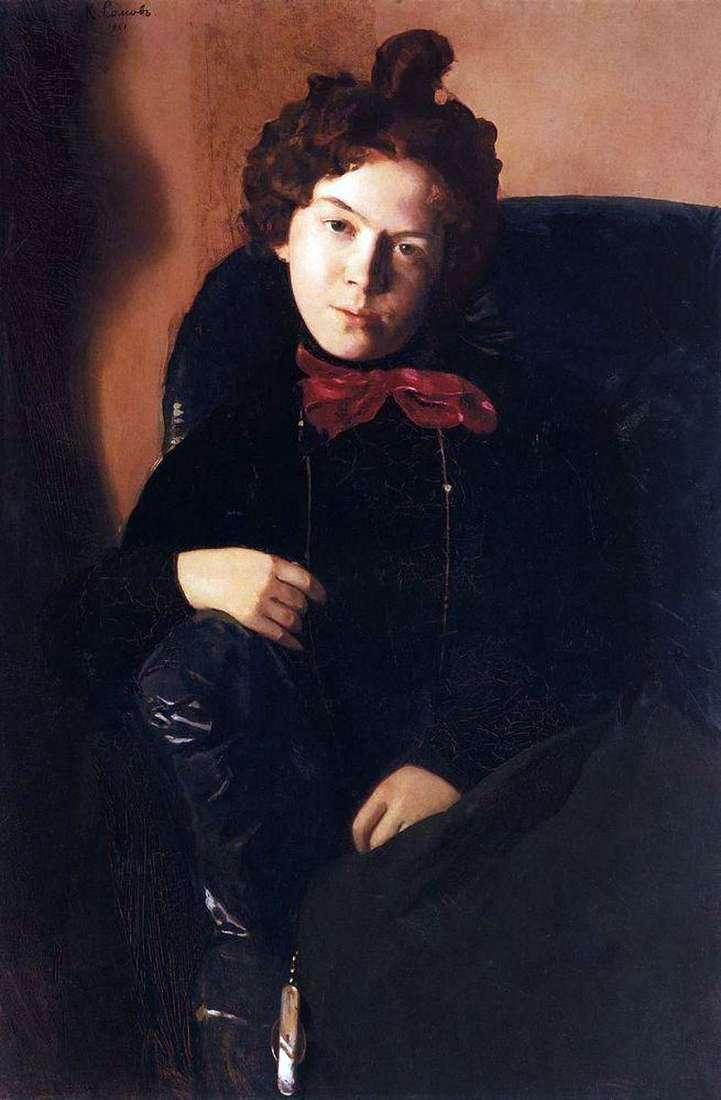 Portret A. P. Ostroumova   Konstantin Somov