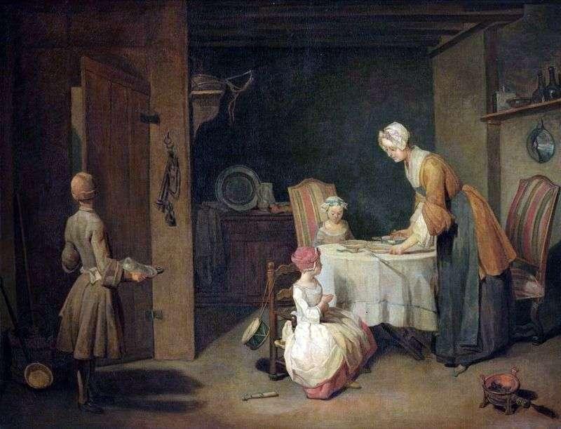 Modlitwa przed obiadem   Jean Baptiste Simeon Chardin
