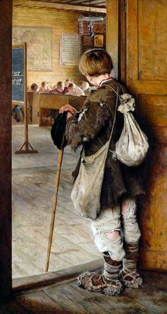 Przy drzwiach szkoły   Nikołaj Bogdanow Belski