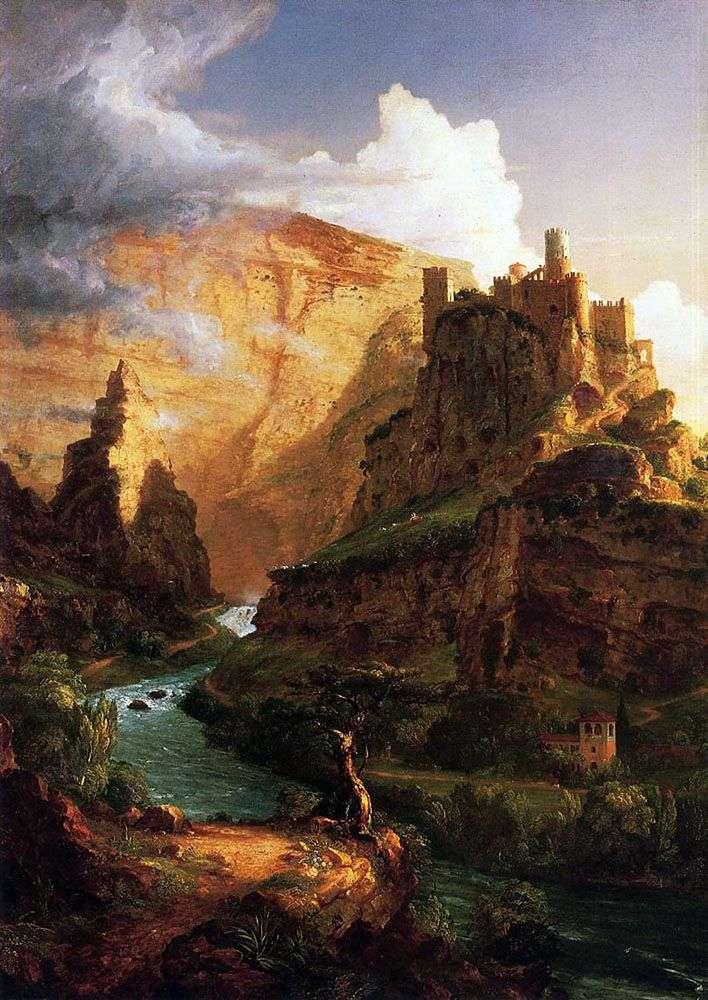Zamek na górze   Thomas Cole