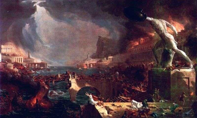 Upadek Cesarstwa Rzymskiego   Thomas Cole
