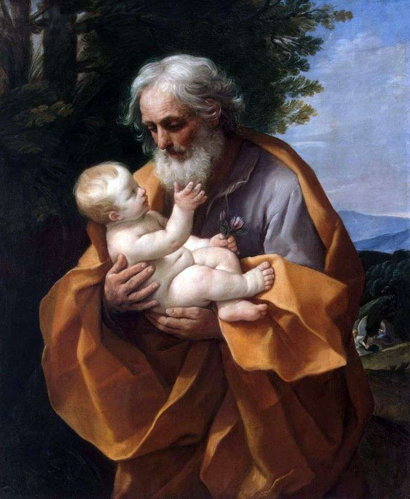 Józef i Dzieciątko Jezus   Guido Reni
