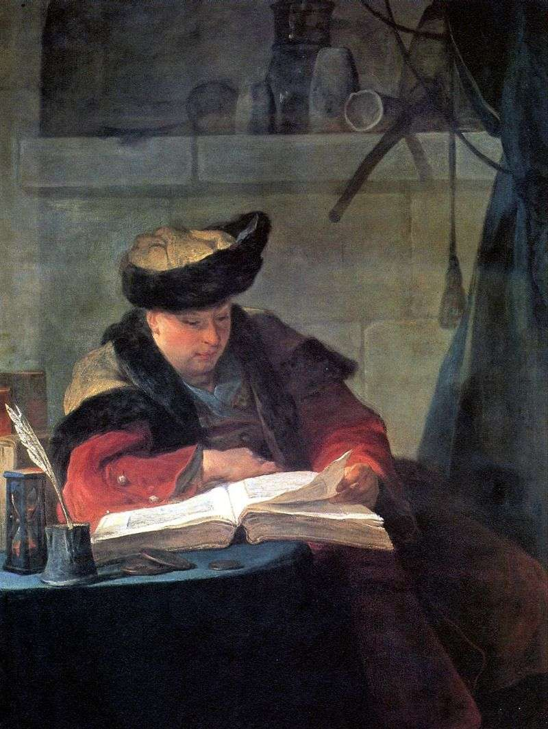 Portret malarza Josepha Aveda   Jean Baptiste Simeon Chardin