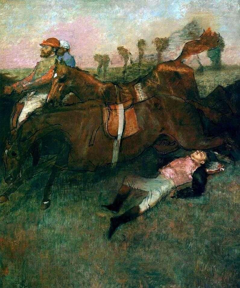 Fallen Jockey   Edgar Degas
