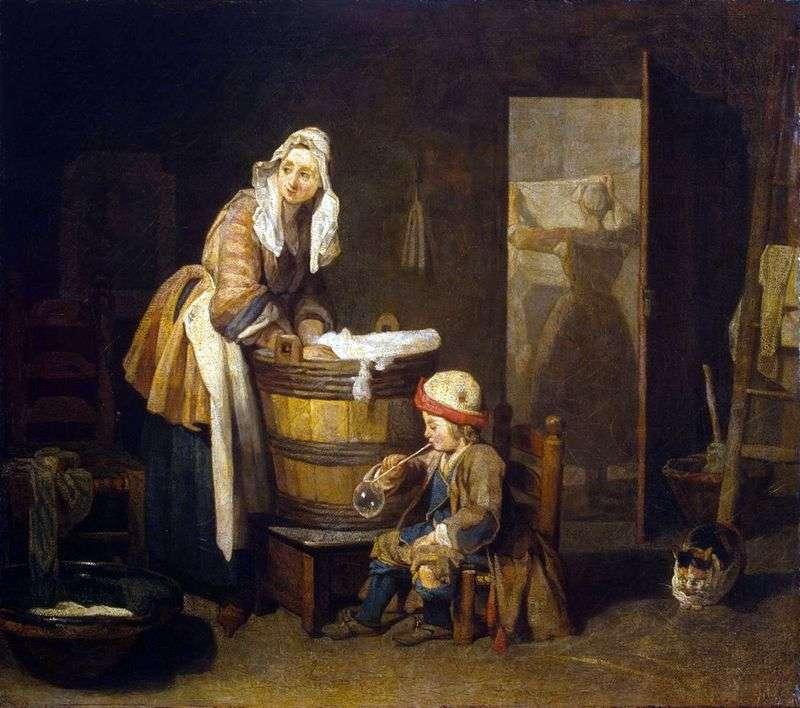 Praczka   Jean Baptiste Simeon Chardin